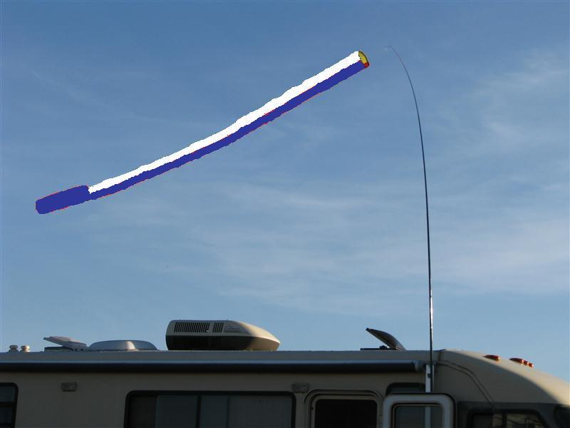 15' blue/white windsock No pole