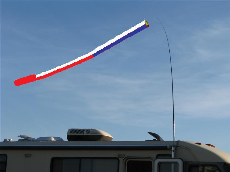 15' red/white/blue windsock No pole