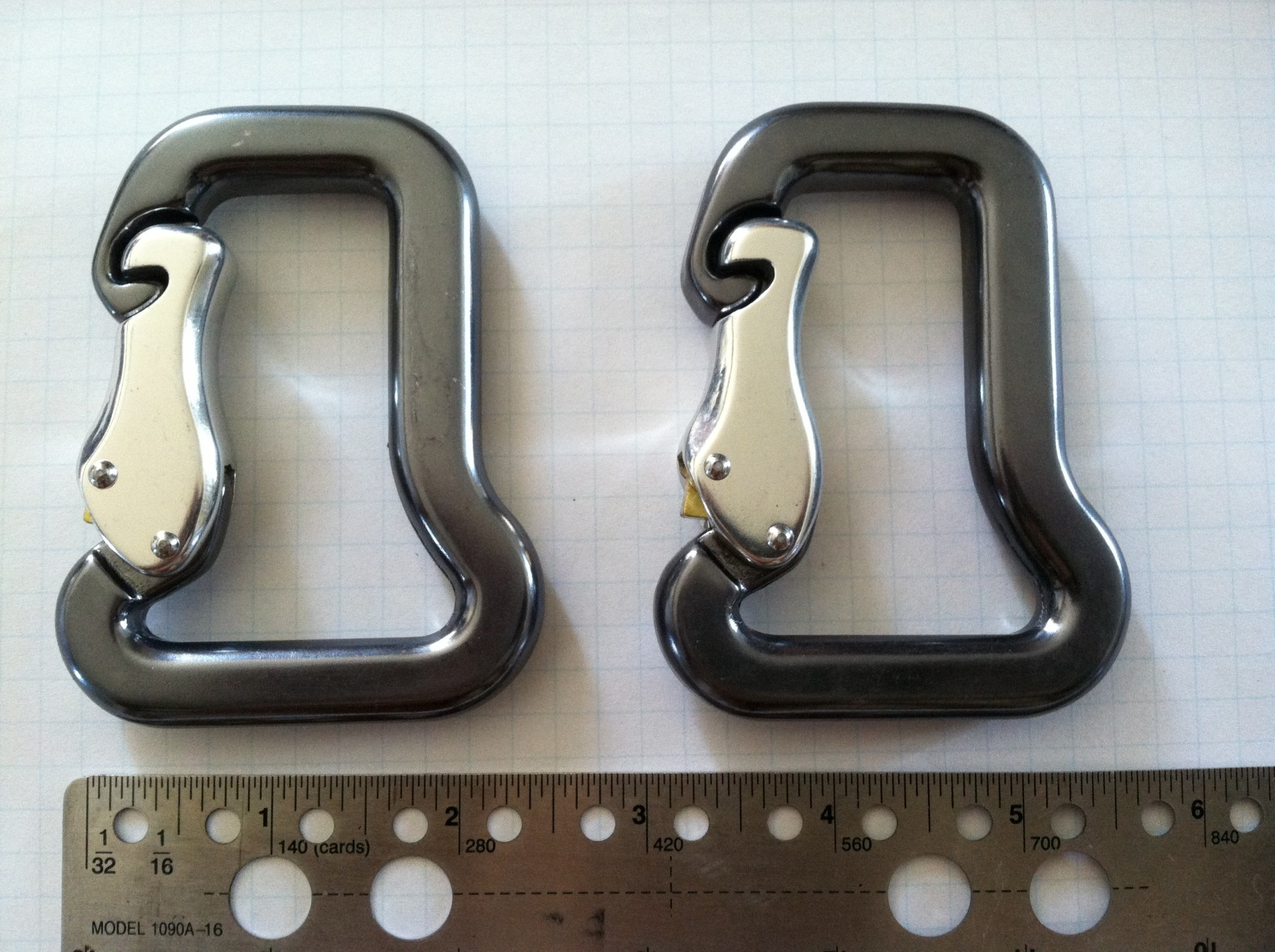 18KN forged Aluminum Carabiner set of two