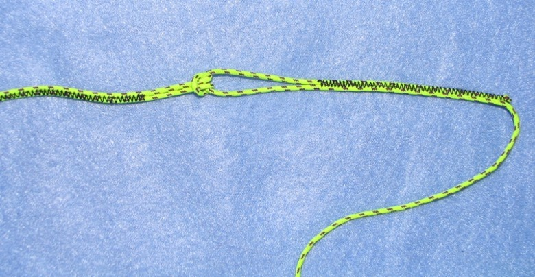 Paraglider brake line set with single loops on one end