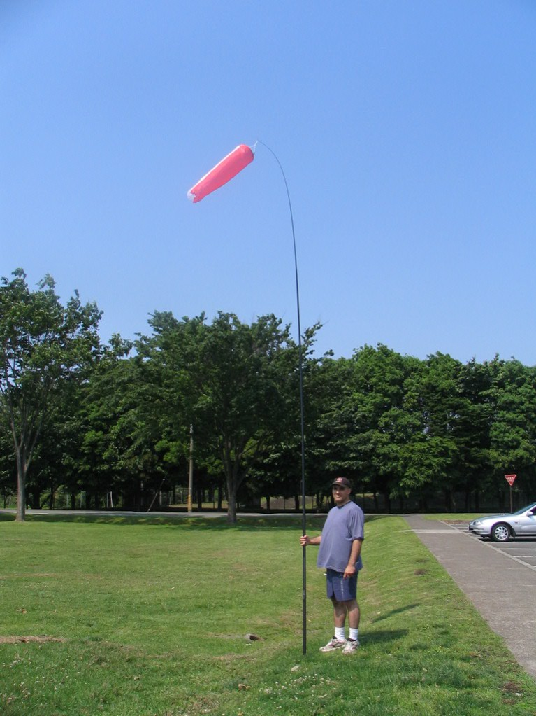 17 foot (5 meter) telescoping pole for windsocks