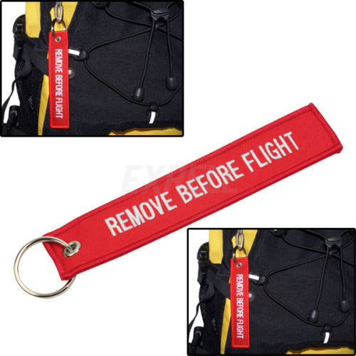 REMOVE BEFORE FLIGHT Keychain/Tag