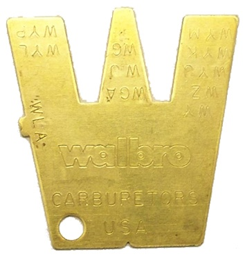 fulcrum metering lever gauge for Walbro carbuertors WB